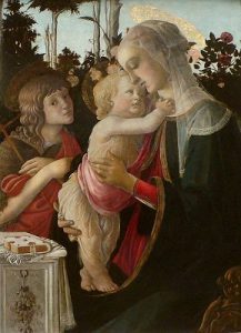 'Virgin and Child with St. John the Baptist' by Sandro Boticelli (1475) Louvre Museum, Paris