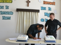 Saying goodbye to Fr Miguel and welcome to Fr. Fernando